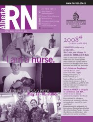 I am a nurse. - College & Association of Registered Nurses of Alberta
