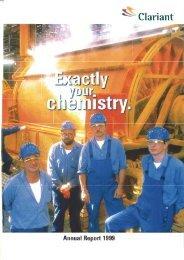 Annual Report 1999 - Clariant