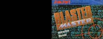 Blaster Master - Nintendo NES - Manual - gamesdbase.com