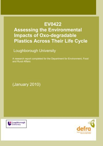 EV0422 Assessing the Environmental Impacts of Oxodegradable ...