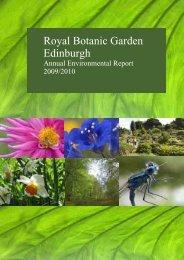 RBGE environmental report 2010 - Royal Botanic Garden Edinburgh