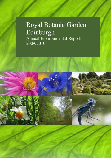 RBGE environmental report 2010 - Royal Botanic Garden Edinburgh