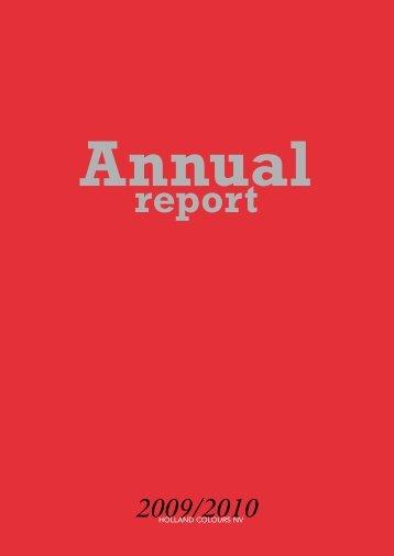 Annual Report 2009/2010 - Jaarverslag.com