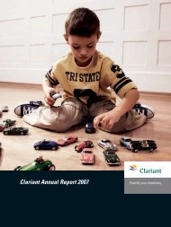 Annual Report 2007 - Clariant
