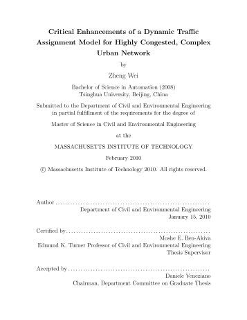Thesis for masters
