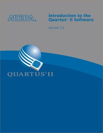 Introduction to the Quartus II Manual