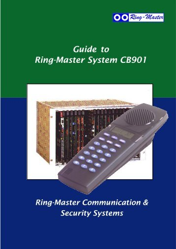 Guide to Ring-Master System CB901 - TELECOM systems bv