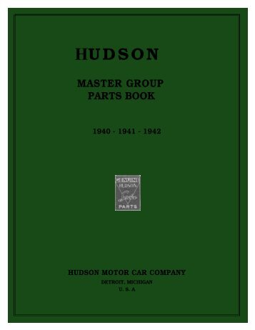 1940 to 1942 Hudson Master Group Parts Book - HudsonTerraplane