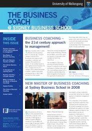 THE BUSINESS COACH - University of Wollongong