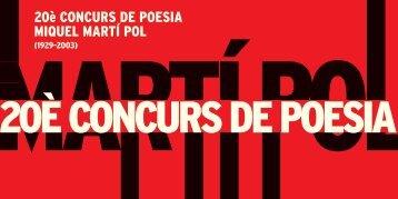 20È CONCURS DE POESIA