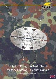 SETOLITE Lichttechnik GmbH Military Catalog - Pocket Edition - Tinex