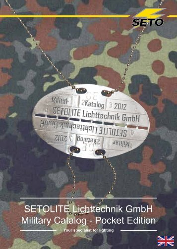 SETOLITE Lichttechnik GmbH Military Catalog - Pocket Edition - Tinex
