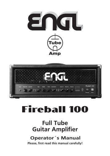 Trace Elliot TA100 Acoustic Guitar Amplifier Manual