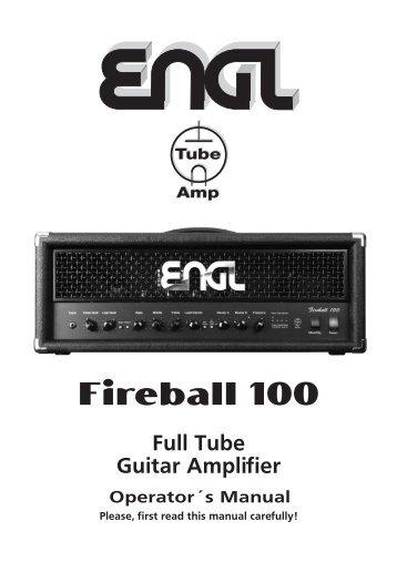 Operator´s Manual Full Tube Guitar Amplifier - Engl