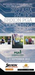 2012 ASIA PACIFIC SRIXON PGA COACHING SUMMIT - TrackMan