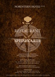 Speisekarte Restaurant Nordstern