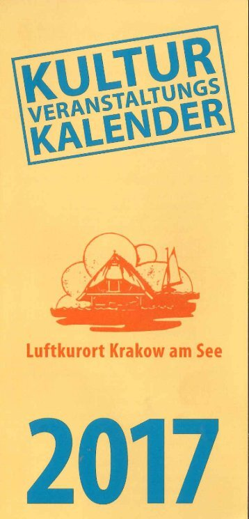 Kulturkalender Krakow am See 2017