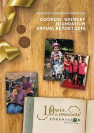 coopers brewery FOUNDATION ANNUAL REPORT 2016
