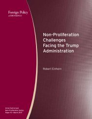 Non-Proliferation Challenges Facing the Trump Administration