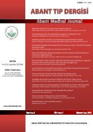 Abant Tıp Dergisi Cilt: 1 - Sayı: 2 Yıl: 2012