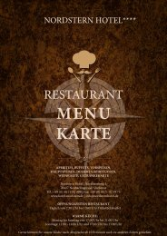 Restaurant Nordstern Menükarte