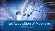 Intel Acquisition of Mobileye