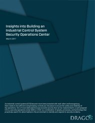 Insights into Building an Industrial Control System Security Operations Center