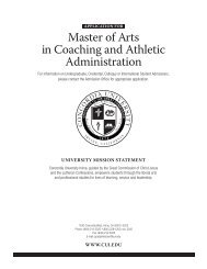 Master of Arts in Coaching and Athletic Administration - Concordia ...