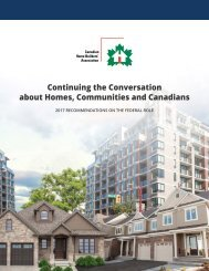 Continuing the Conversation about Homes Communities and Canadians