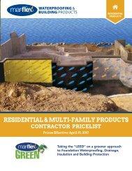 Mar-flex Residential Price List - 2017 Contractor Version