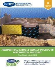 Mar-flex Residential Price List - 2017 Distributor Version