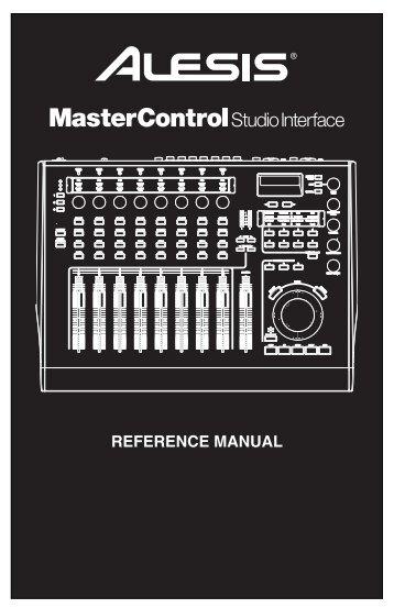 MasterControl - Reference Manual - Alesis