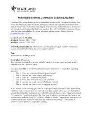 Professional Learning Community Coaching ... - Heartland AEA 11