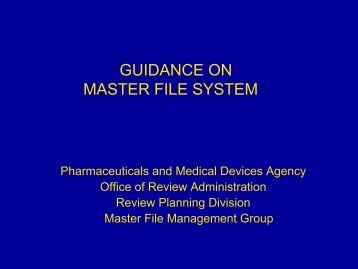 GUIDANCE ON MASTER FILE SYSTEM - Emergo Group