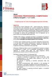 COACHING PROFESSIONAL COMPETENCE - Fòrema