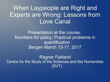 When Laypeople are Right and Experts are Wrong Lessons from Love Canal