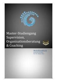 Master-Studiengang Supervision, Organisationsberatung & Coaching