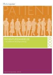 Patientuddannelse - Sundhedsstyrelsen