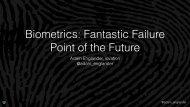 Biometrics Fantastic Failure Point of the Future