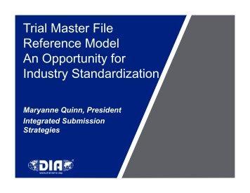 The Trial Master File - Drug Information Association