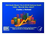 Death Master File & NCHS National Death Index - Centers for ...