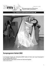 Kursprogramm Herbst 2002 - Volkshochschule Rankweil