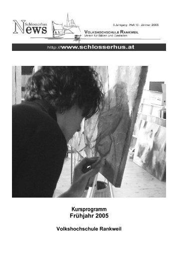 Verein für Bilden und Gestalten- Schlosserhus - Volkshochschule ...