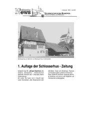 1. Auflage der Schlosserhus - Zeitung - Volkshochschule Rankweil