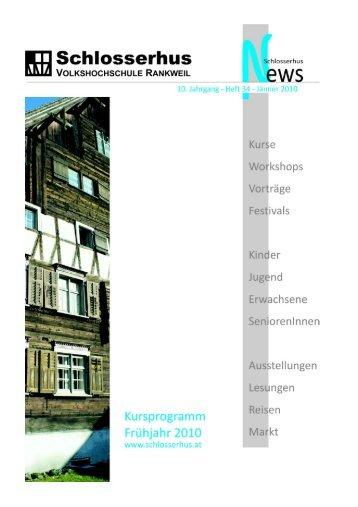 Kursnummer - Volkshochschule Rankweil
