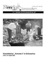 "Keramikfestival ""Kontraste 4"" im Schlosserhus - Volkshochschule ..."