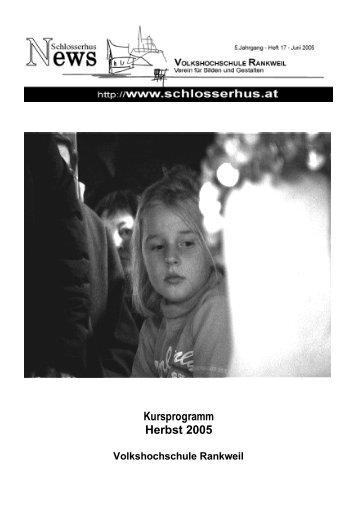 13. bis 21. August 2005 - Volkshochschule Rankweil