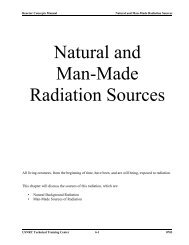 Natural and Man-Made Radiation Sources