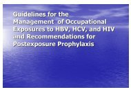 Guidelines for the Management of Occupational Exposures to HBV ...