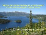 """Arbeidet med """"Naturen som verdiskaper i Tinn og ... - Euromontana"""